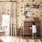 LSDA007_tapet_copii_animale_gradina_zoologica_elefant_girafa