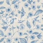 SSDT007_Flori_relief_design_contemporan_elemente_grafice_retro_fasii_texturate_tapet_albastru