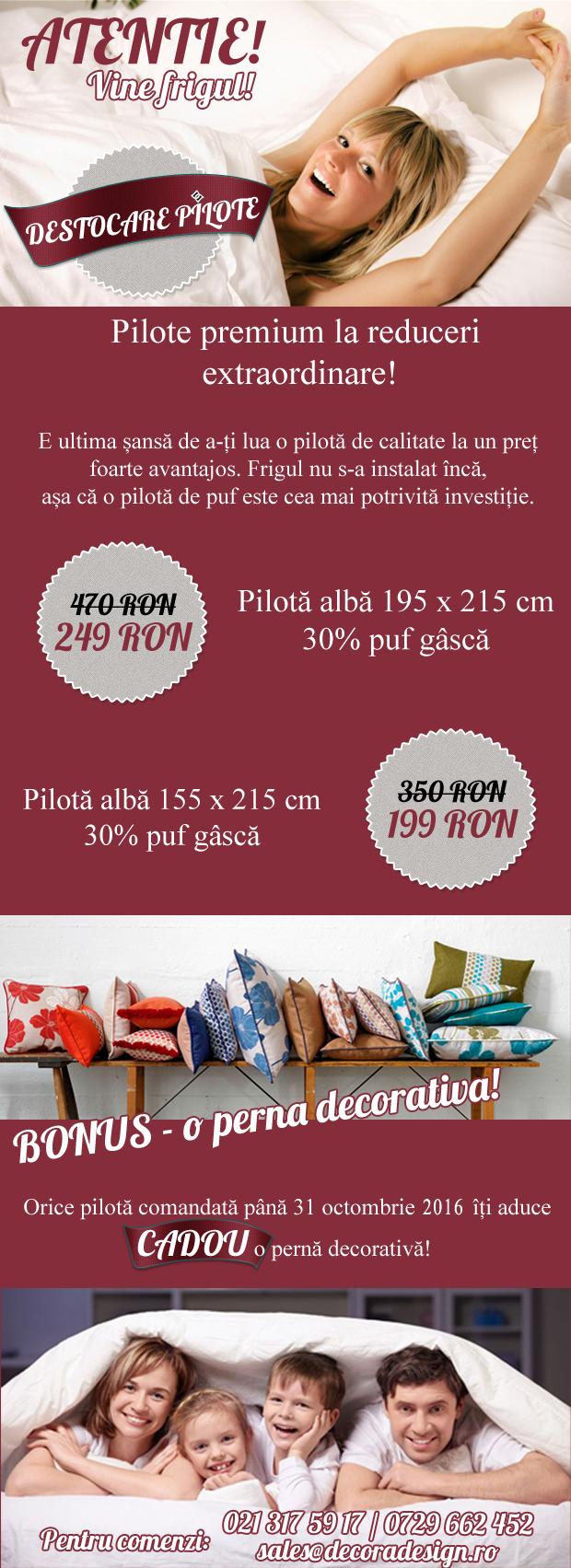reduceri pilote_pilota_cadou_materiale_textile_lenjerii_cuverturi_pat_magazin_bucuresti