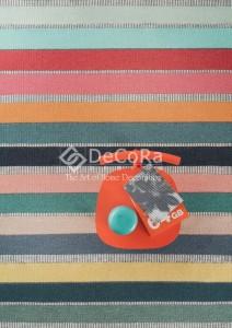 PLDES 017 SHELBIE covor copii tesut manual lana noua zeelanda dungi orizontale multicolor