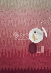 PLDES 021 ACACIA covor copii feita antibacterian antialergic fata gradient geometric roz rosu  lana romb