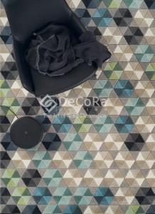 PLDES 020 COLMENA covor lana geometric culoare mix
