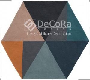 PLDES 022 SATO covor lana romb culoare mix pastel