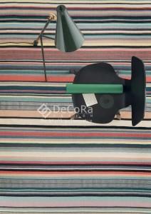 PLDES 013 FEEL covor lana dreptunghi lucrat manual pastel