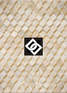 PSLLS008 DAPHNE covor dreptunghi geometric piele bej repetitie