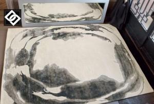 LSLHT009 DAKOR covor vascoza abstract gri crem negru