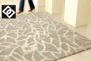 LSLHT012 EPHEMERE covor lana vascoza abstract gri bej crem model ornamental