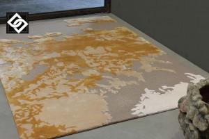 LSLHT021 MILOIS covor lana vascoza lucrat manual culoare alb bej crem