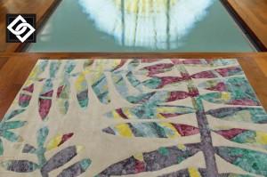 LSLHT028 SOWA covor vascoza lucrat manual geometric culoare multi